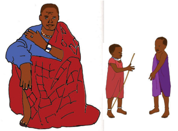 man and children cut out